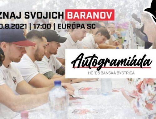 Pozvánka na autogramiádu s hráčmi HC '05 BANSKÁ BYSTRICA
